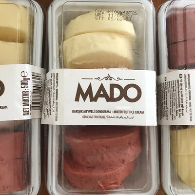 MADO Limonlu-Çilekli-Karışık Meyveli Kesme Dondurma (500gr)