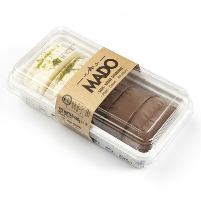 MADO Sade ve Kakaolu Kesme Dondurma (500gr)