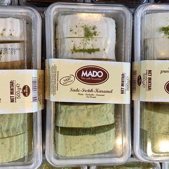 MADO - MADO Sade-Fıstıklı-Karamelli Kesme Dondurma (500gr)